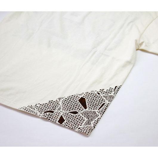 """KABEL(カベル) """"Kyo Yuzen Hand Print Tee"""" [KL0520-01-1011] -MEN"""