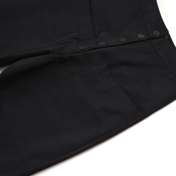 """STUDIO NICHOLSON(スタジオニコルソン) """"BRINSON-PEACHED COTTON TWILL ROUNDED DROP CROTCH PANT"""" [SNW-723] -WOMEN"""