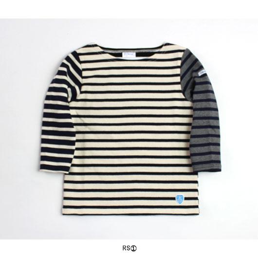 """ORCIVAL(オーチバル・オーシバル) """"コットンロード フレンチバスクシャツ(HARLEQUIN)"""" [#7911] -KIDS"""