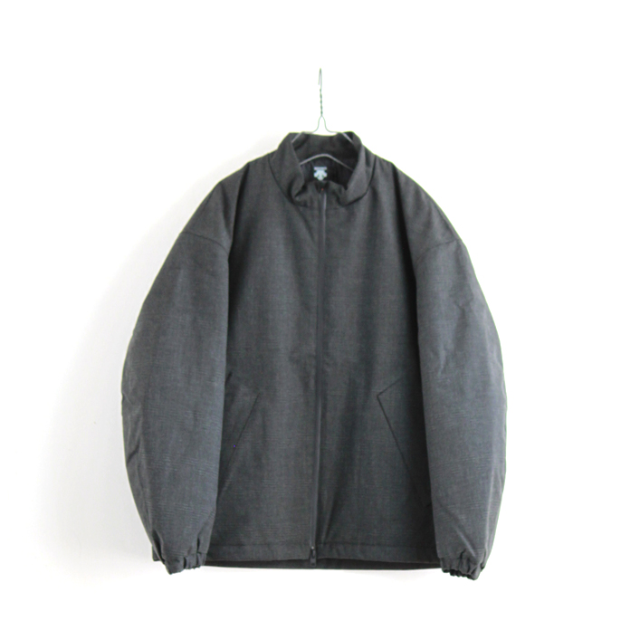 "DESCENTE PAUSE(デサント ポーズ)""WOOL MIX STAND COLLAR ZIP UP BLOUSON"" [DLMQJC33]-MEN"