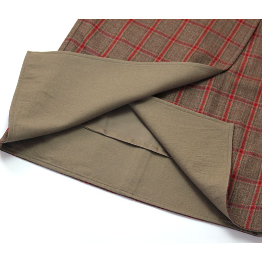 """Unfil(アンフィル)""""checked wool-amundsen midi skirt""""[ONFL-UW131] -WOMEN"""
