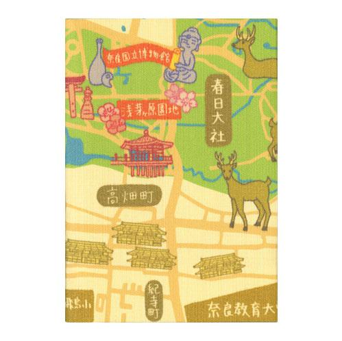 ふすま地ブックカバー ならまちマップ 1631
