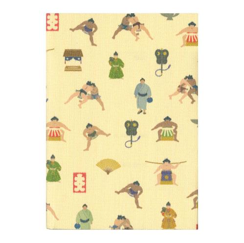 ふすま地ブックカバー 相撲 1632