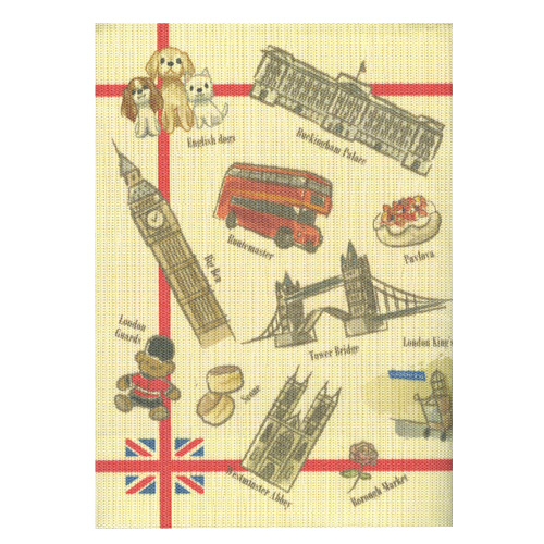 ふすま地ブックカバー イギリス犬 1629