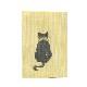 ふすま地ブックカバー 黒猫 0906