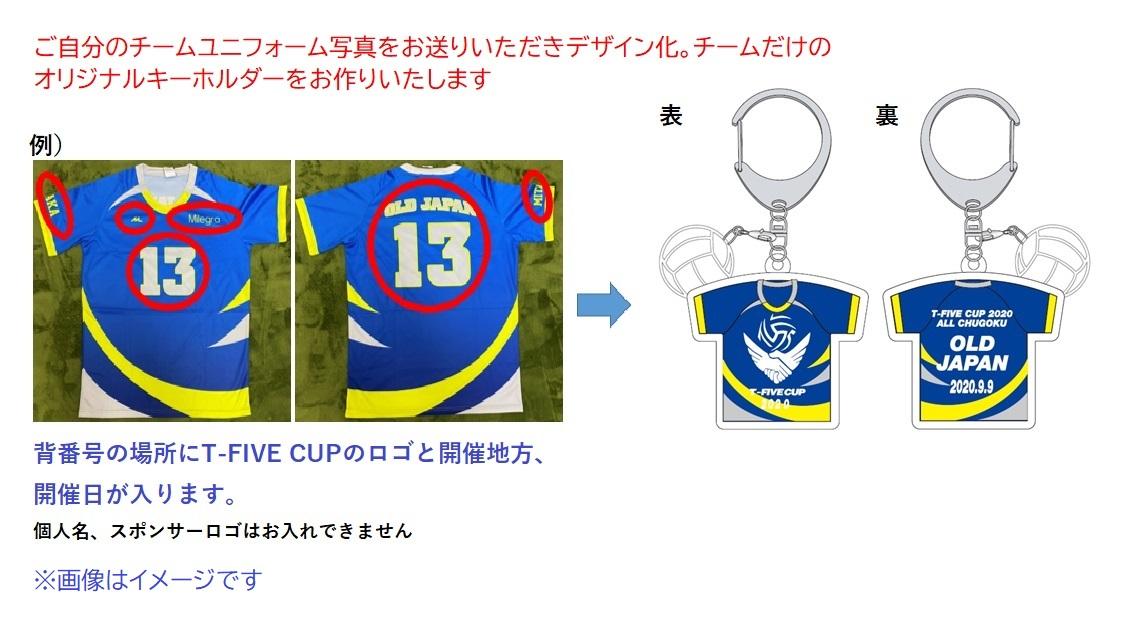 T-FIVE CUP チームオリジナルユニフォームキーホルダー