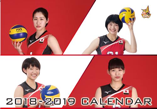 火の鳥NIPPON・龍神NIPPON2018-2019 カレンダー