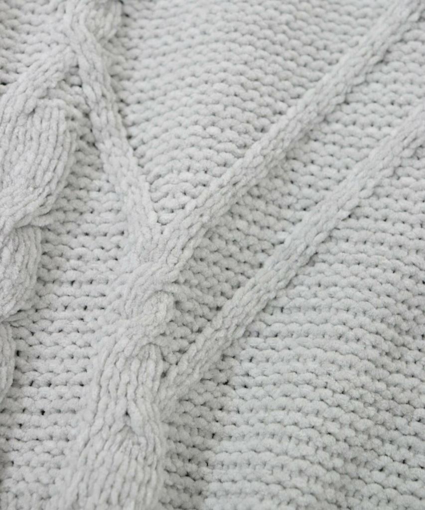 デザインケーブル編み ニットルームウェア