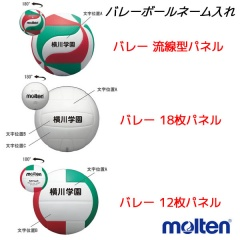 モルテン molten ネーム入れ (個人名用) バレーボール BALLNAME2-molten C up1206