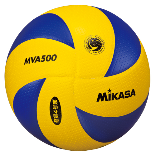 ミカサ MIKASA バレーボール 8枚パネル4号軽量小学生 バレーボール MG-MVA500 [10個セット] C up1204