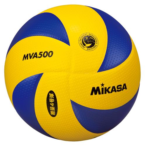 ミカサ MIKASA バレーボール 8枚パネル4号軽量小学生 バレーボール MG-MVA500 [3個セット] C up1204