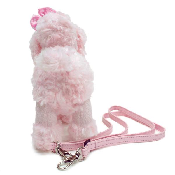 ぬいぐるみ型バッグ|ピンクプードル ミニポシェット