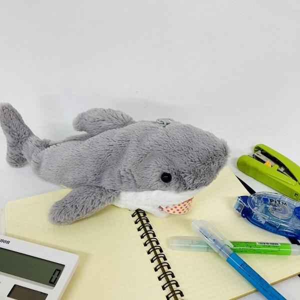 サメのぬいぐるみペンケース|ワイルドアニマルペンケースシャーク