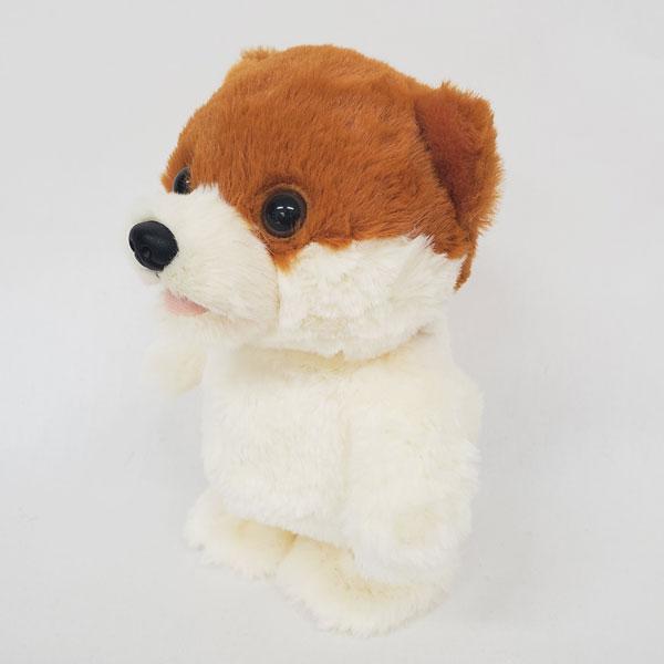 動く犬のぬいぐるみおもちゃ ウォーキングトーキングパピーポメラニアンシバカット