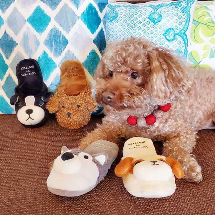 【大人気】犬 おもちゃ ペットトイ 音が鳴る 遊ぶ ストレス解消【 LOVE PETS by BESTEVER ラブペッツ バイ ベストエバー 】スリッパ タイプ トイプードル シーズー ボストンテリア ハスキー