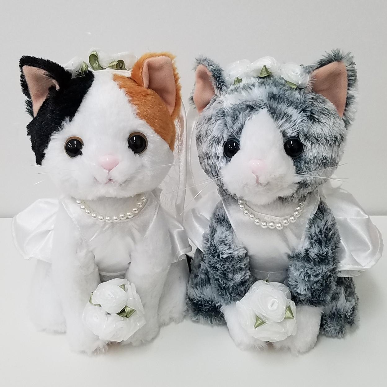 結婚式の受付や結婚祝いに ウェルカムドール プレミアムウェディング サバトラ 新婦