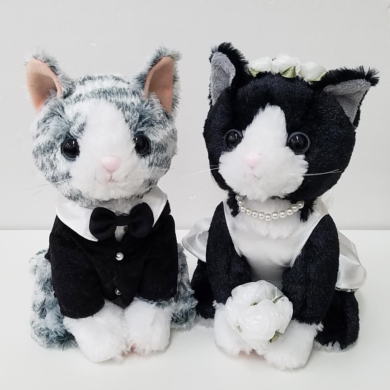 結婚式の受付や結婚祝いに|ウェルカムドール プレミアムウェディング ハチワレ 新婦