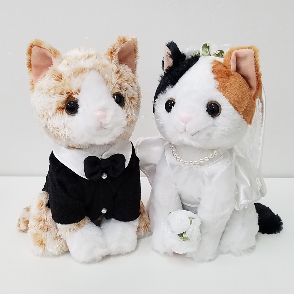 結婚式の受付や結婚祝いに ウェルカムドール プレミアムウェディング ミケネコ 新婦