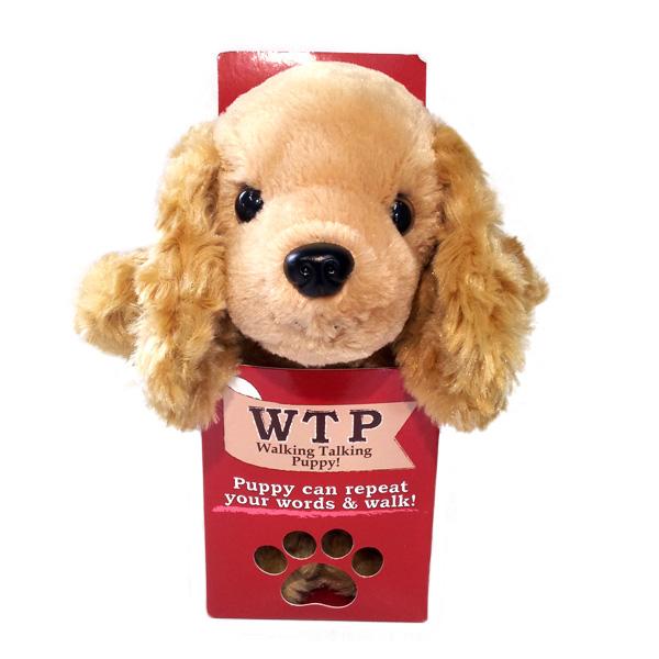 【電池プレゼント】動く!おしゃべりする!犬のぬいぐるみ ウォーキングトーキングパピー(WTP)コッカースパニエル