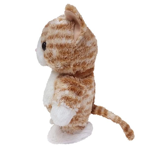 【電池プレゼント】動くネコのぬいぐるみ|ウォーキングトーキングキティ チャトラ