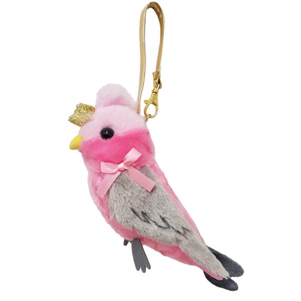 鳥のペンケース|クラウンポーチ モモイロインコ