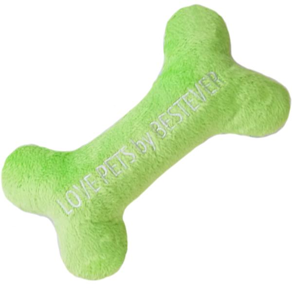 かわいい犬のおもちゃ|スクィーキー ホネ M ライムグリーン