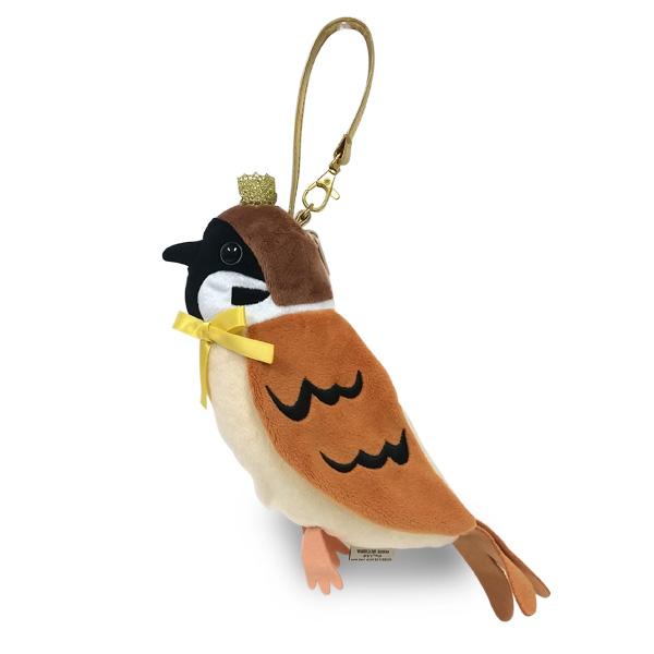 鳥のペンケース|クラウンポーチ スズメ