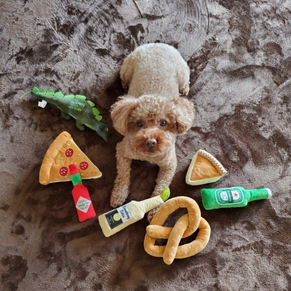 【大人気】犬 おもちゃ ペットトイ 音が鳴る 遊ぶ ストレス解消【 LOVE PETS by BESTEVER ラブペッツ バイ ベストエバー 】ピザ Pizza ペパロニ