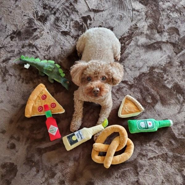 犬のおもちゃ|スクィーキーチーズケーキ