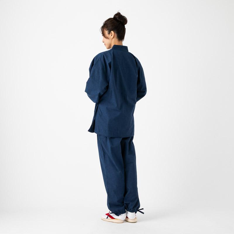 日本製 女性用作務衣 久留米紬織 部屋着 婦人用 和装 作業着 制服 レディース 母の日