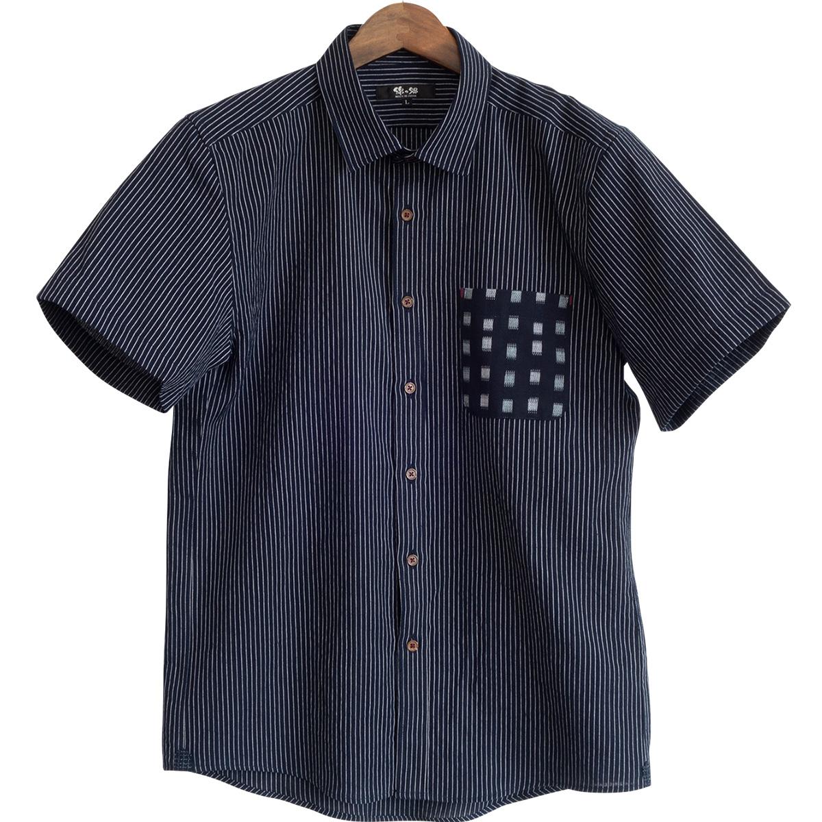 半袖ドビー織ポケットシャツ ちぢみ織<日本製久留米産>父の日ギフト プレゼント