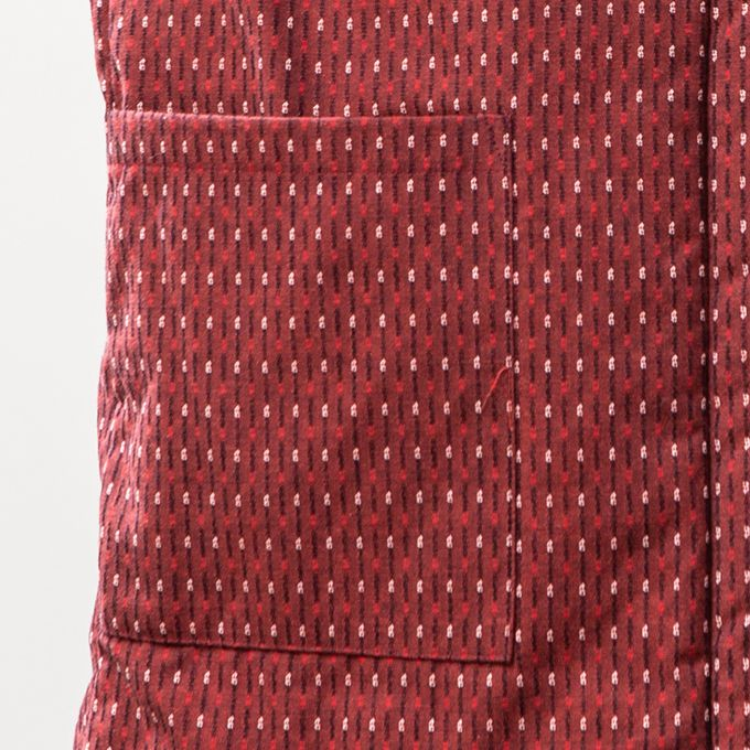 <送料無料>綿入れちゃんちゃんこ 男女兼用 ドビー織 あられ柄 ベスト ポンチョ 袖なし 半纏 袢纏 半天 メンズ レディース 防寒 ギフト プレゼント 日本製 久留米産