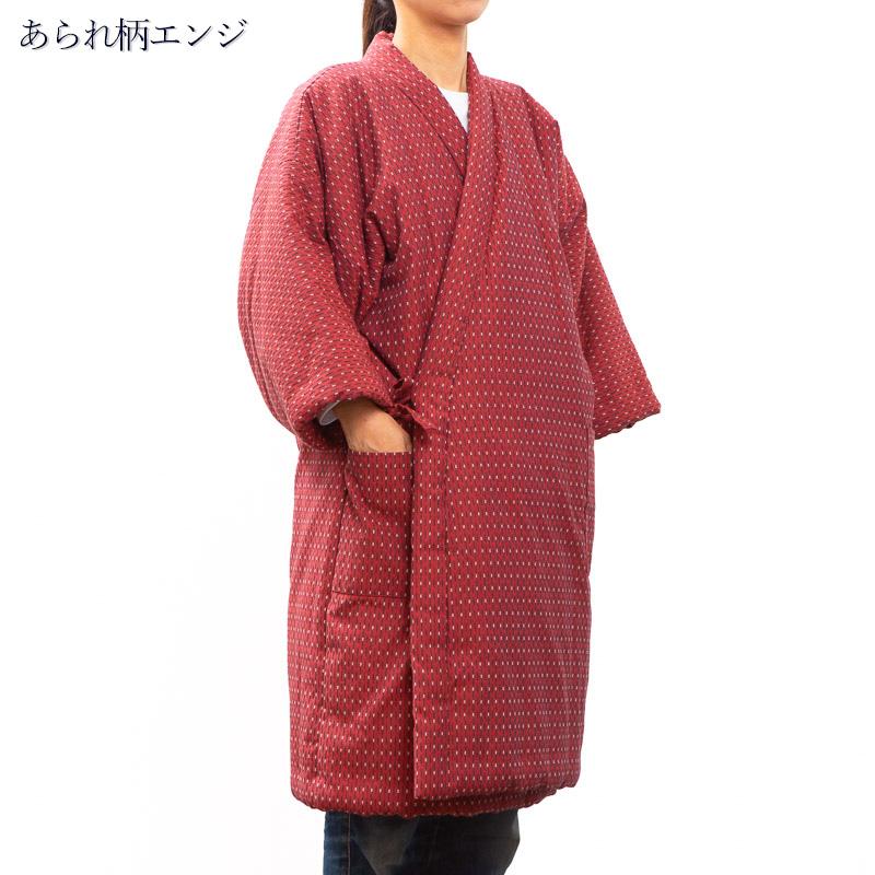 日本製 久留米はんてん 前合わせロング丈 女性用 袢纏 半天 半纏 どてら ちゃんちゃんこプレゼント 母 贈り物
