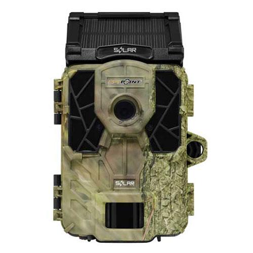 トレイルカメラ防犯カメラとしても使用可能な防犯センサー搭載屋外防犯不法投棄監視向けSPY-POINTトSOLAR