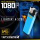 【特別仕様 microSD128GB付属】ライター型カメラ A-520B ブルー スパイダーズX