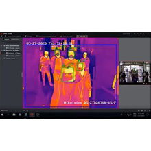 サーマルカメラ非接触体温計新型ウィルス感染症温度検知アラーム搭載サーモグラフィBS-2TD1217B-6/PA