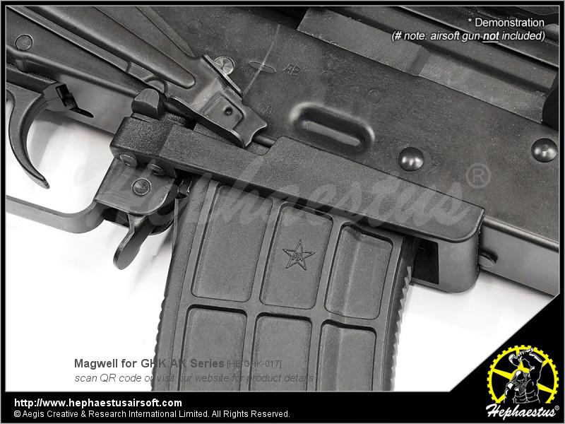 【パーツ類ポイント5倍!4月20日8時59分まで】Hephaestus AK用マグウェル GHK AKシリーズ対応