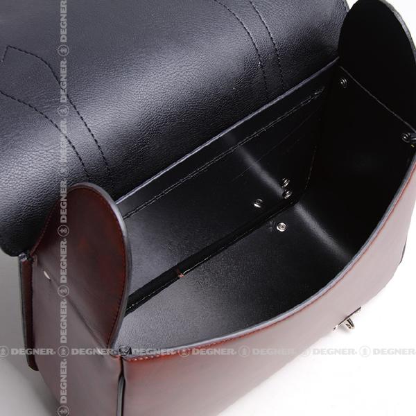 シンセティックレザーサドルバッグ/SYNTHETIC LEATHER SADDLEBAG(ブラウン) [DSB-5-BR]