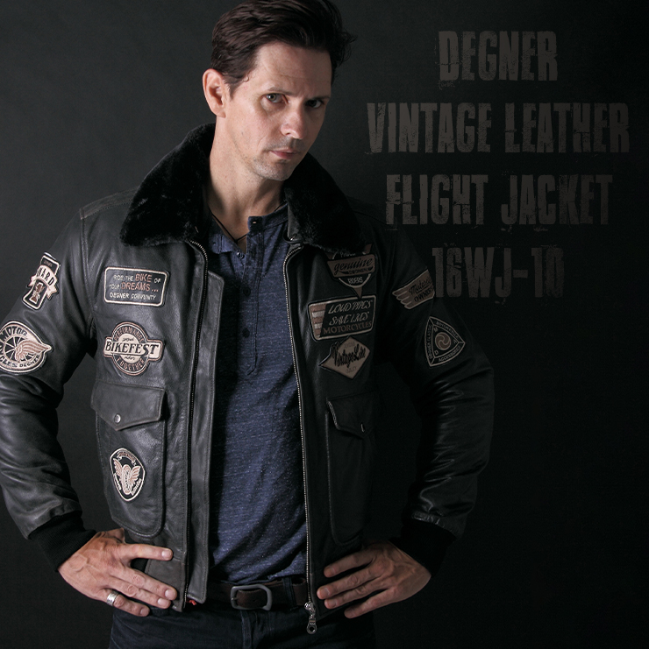 ヴィンテージフライトレザージャケット/VINTAGE FLIGHT LEATHER JACKET[16WJ-10]