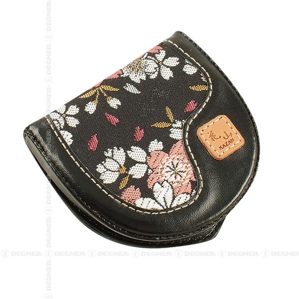 花山コインケース/KAZAN COIN CASE(ブラック) [WV-9K-京桜-BK]