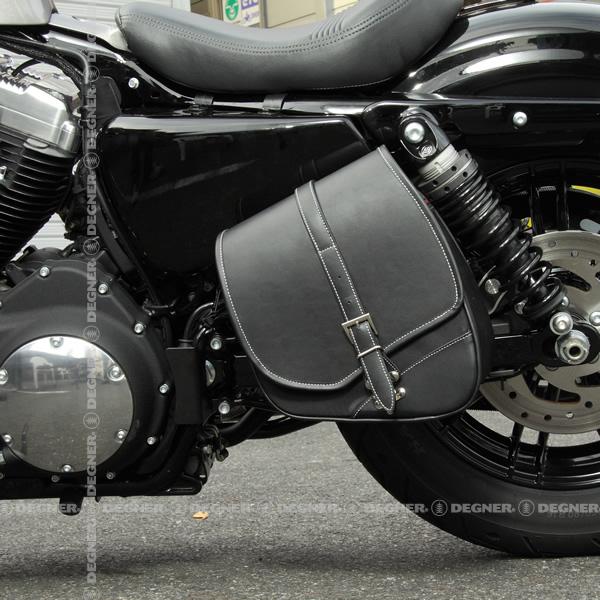 スポーツスター専用!ナイロンスイングアームバッグ/NYLON SWING ARM BAG(ブラック) [NB-124-BK]