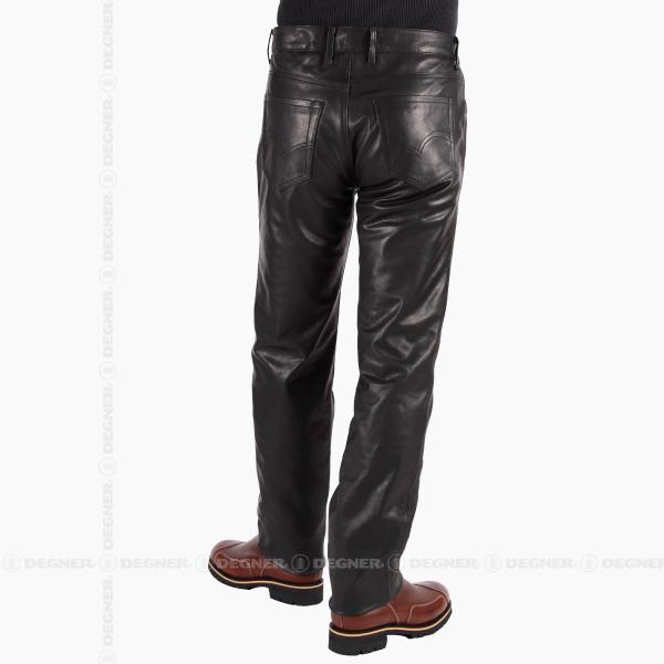 スリムフィットレザーパンツ/SLIMFIT LEATHER PANTS(ブラック) [DP-18A-BK]