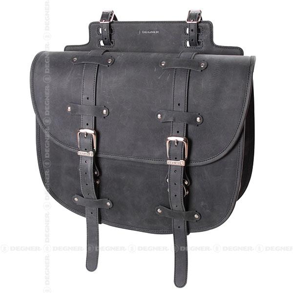 レザーサドルバッグ/LEATHER SADDLE BAG(ブラック) [SB-64IN-BK]