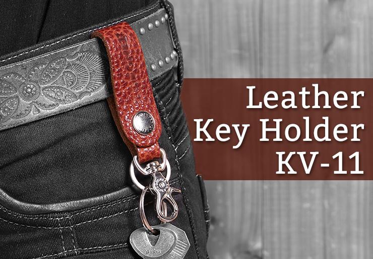 [レターパックで送料370円] レザーキーホルダー タスマンブラウン/LEATHER KEY HOLDER TMBR[KV-11]