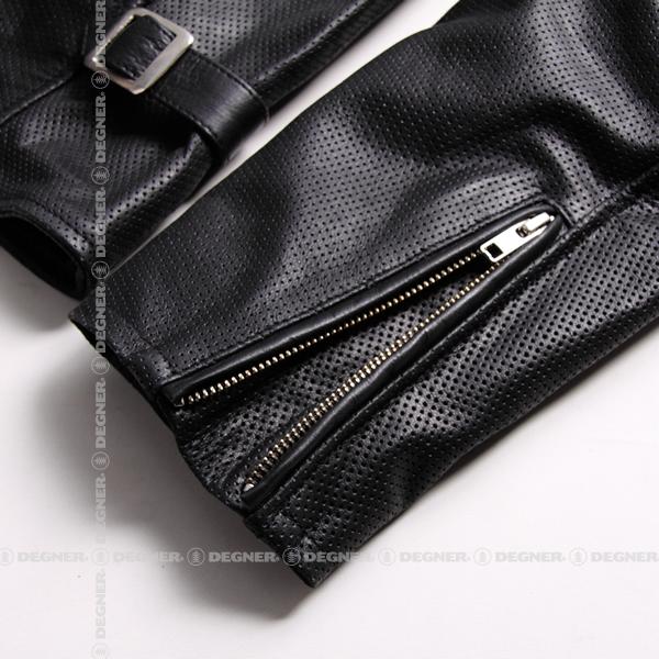 メンズメッシュレザージャケット/Men's Mesh  Leather Jacket(ブラック)[17SJ-3-BK]