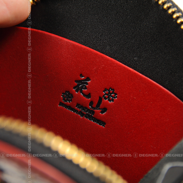 花山コインケース/KAZAN COIN CASE(ブラック) [W-70K-百鬼夜行-NV]