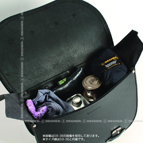 レザーサドルバッグ/LEATHER SADDLEBAG(ブラック) [SB-36D-BK]