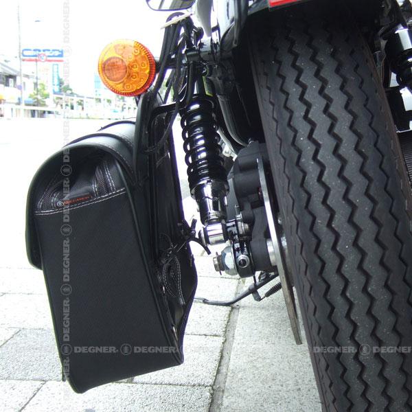 スライドレール一体型サドルバッグサポート スポーツスター専用 '04〜'21 左側 ブラック/ [SBS-1-BK]