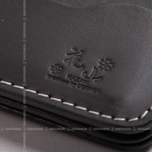 花山レザーウォレット/KAZAN LEATHER WALLET(ブラック) [W-77K-都桜-BK]
