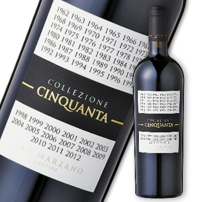 サン・マルツァーノ コレッツィオーネ・チンクアンタ +4 750ml Collezione 50 赤ワイン フルボディ